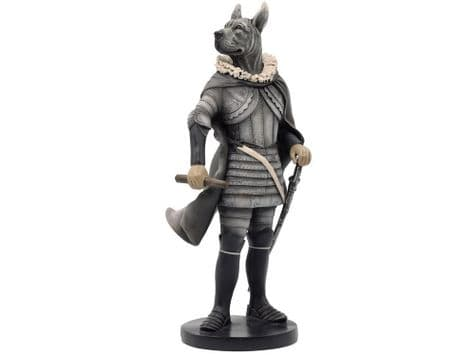 dog in armour caricature figure   dressed great dane ornament